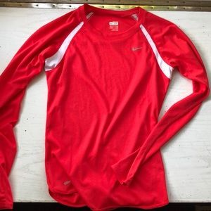 Coral Nike fitted long sleeve shirt